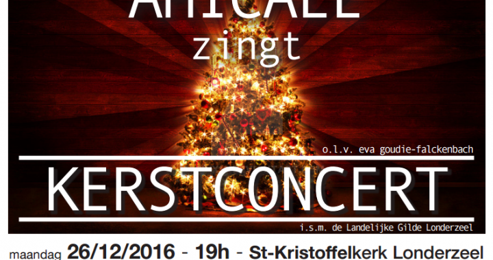 Affiche Kerstconcert '16